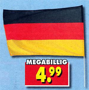 Deutschlandflagge, megabillig