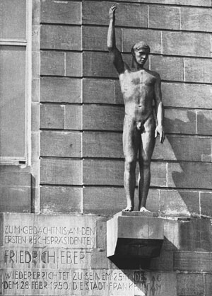 Richard Scheibe, Denkmal für Friedrich Ebert, 1950