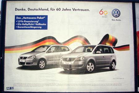 Volkswagen-Plakat