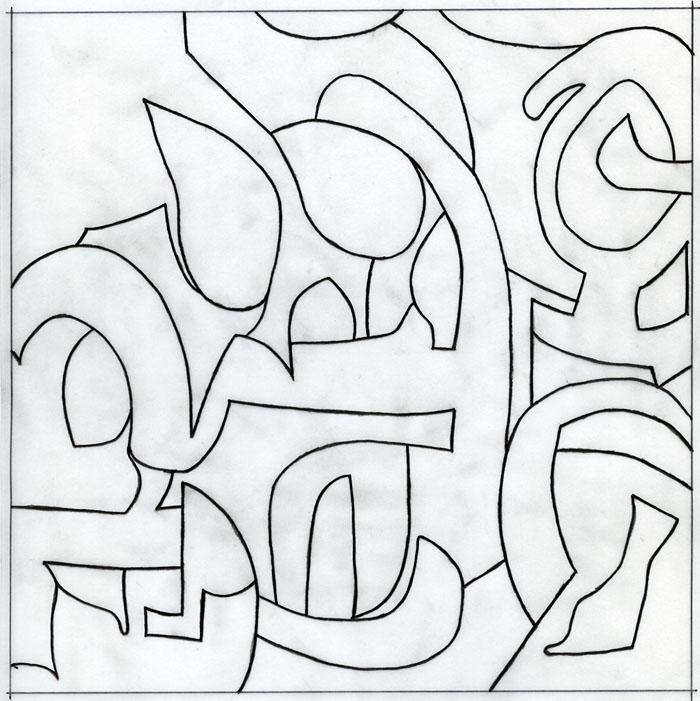 sirius, detail, formalisierung, 20 x 20 cm, Juli 2016