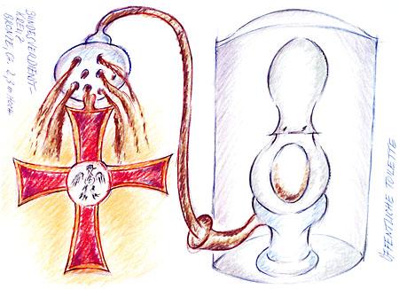 Zeichnung zum Denkmalenwurf von H.J. Psotta