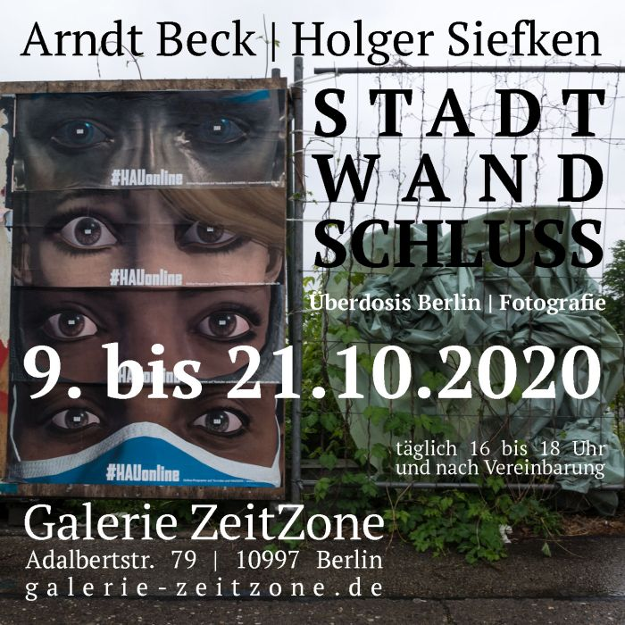 Einladung zur Ausstellung STADT | WAND | SCHLUSS von Holger Siefken und Arndt Beck